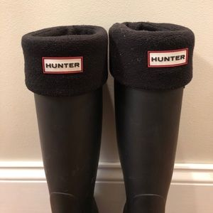 Hunter boot socks. Fleece. Size Med. Black